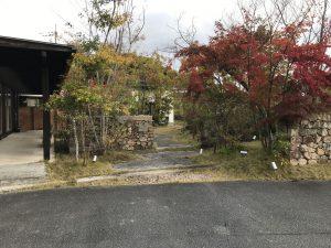 山口市朝田トピア社屋お庭の掃除